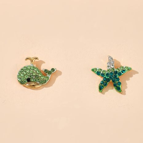 fashion new animal stud earrings korean starfish dolphins earrings wholesale nihaojewelry NHGY222487's discount tags