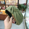 NHUX713650-Army-green-crumpled-knotted-headband