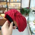 NHUX713651-Wine-red-crumpled-knotted-headband