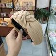 NHUX713653-Khaki-creased-knotted-headband