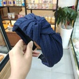 NHUX713655-Navy-blue-crumpled-knotted-headband