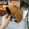 NHUX713676-Brown-yarn-spiral-knotted-headband