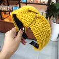 NHUX713679-Yellow-yarn-spiral-knotted-headband