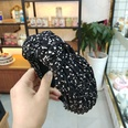 NHUX713727-Black-small-spots-crumpled-and-knotted-headband