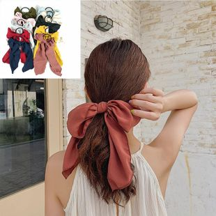 Korean fashion best-selling section bow ribbon streamer hair ring high-end little fairy tie hair rubber band ladies wind hair accessories wholesale nihaojewelry NHUX222520's discount tags