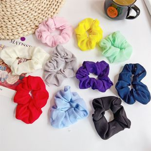 fashion new  simple large hair ring sweet chiffon hair  ring rubber band head hair accessories wholesale nihaojewelry NHDP222165's discount tags