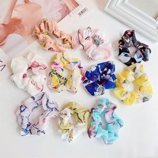 Summer hot sale hair ring sweet girl ball head flower splicing chiffon head rope tied hair band wholesale nihaojewelry NHDP222167's discount tags