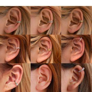 hot sale ear cuff retro simple ear clips personality u-shaped geometric earrings wholesale nihaojewelry NHDP222168's discount tags