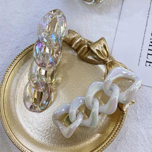 Moda coreana acetato horquilla acrílico geométrica cadena cruzada hueca horquilla horquillas para el cabello al por mayor nihaojewelry NHSM222213's discount tags