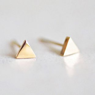 Korean fashion popular triangle earrings stainless steel gold-plated earrings wholesale nihaojewelry NHTF222237's discount tags