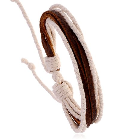 accessories simple personality retro woven cowhide bracelet niche design jewelry adjustable wholesale nihaojewelry NHPK222274's discount tags