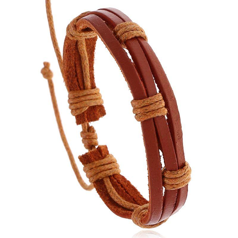 fashion jewelry punk personality retro woven leather bracelet niche design jewelry adjustable wholesale nihaojewelry NHPK222282