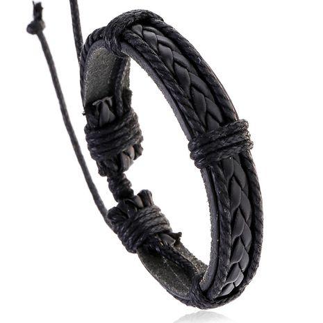fashion jewelry vintage cowhide bracelet men woven leather bracelet wholesale nihaojewelry NHPK222286's discount tags