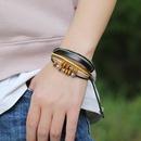 Hot Sell Beaded Leather Bracelet Hand Woven Multilayer Hemp Rope Wooden Bead Bracelet wholesale nihaojewelry NHPK222287