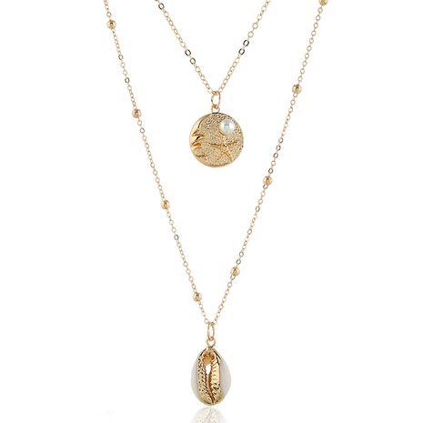 moda metal simple concha accesorios doble temperamento personalidad collar venta al por mayor niihaojewelry NHSC223412's discount tags
