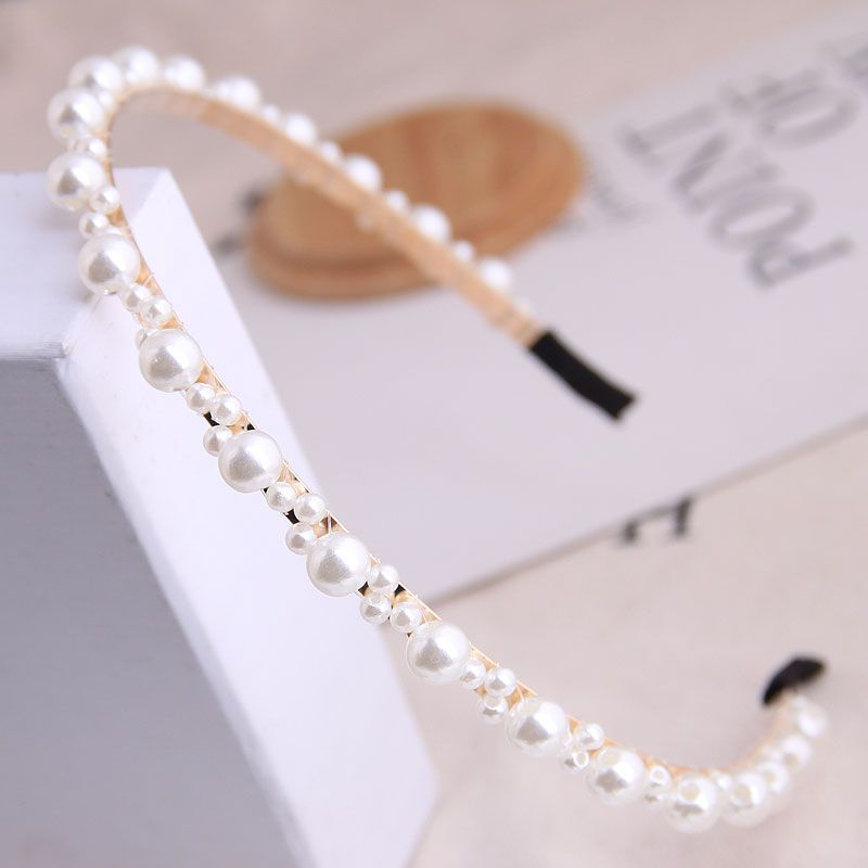 Korean fashion all-match simple and delicate messy pearl Ms. simple headband hair accessories hairband wholesale niihaojewelry NHSC223421