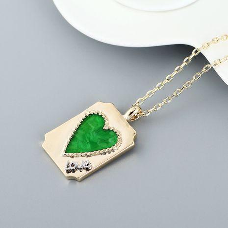 Collier plaqué or véritable collier coeur géométrique NHPS222620's discount tags