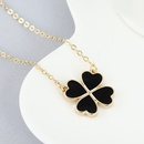 True Gold Plated NecklaceSweet Clover necklace wholesale lucky necklace women NHPS222621