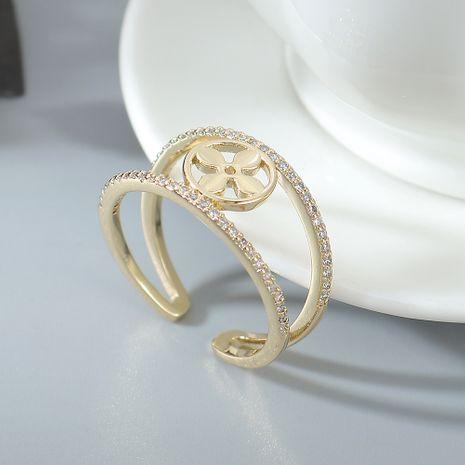 AAA Grade Zircon Ring Fashion Love Clover anneaux NHPS222628's discount tags