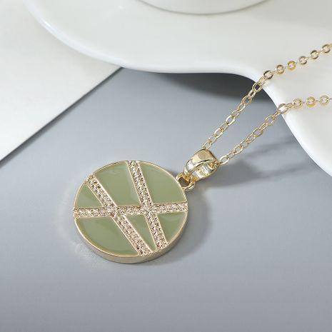 collier plaqué or en gros mode amour géométrique collier NHPS222629's discount tags