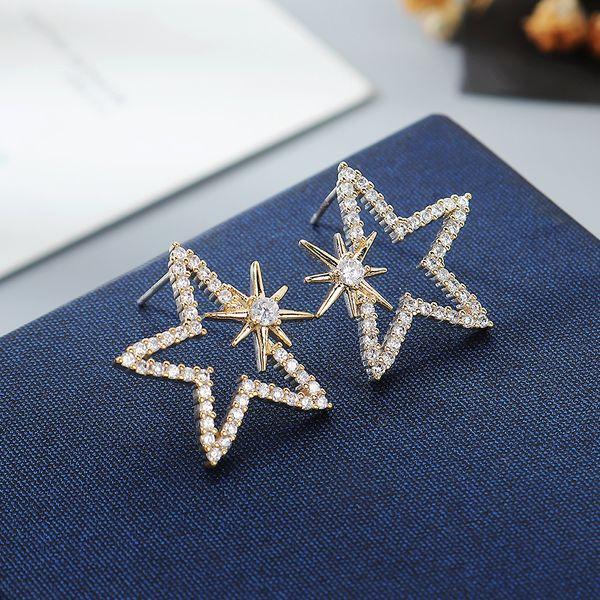 AAA Zircon Earrings wholesale fashion women's star earrings NHPS222632