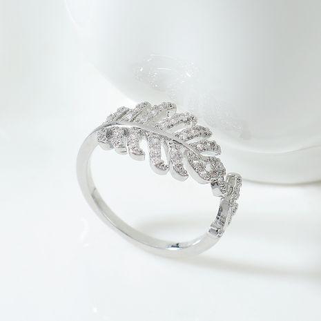 AAA Zircon Ring gros anneaux en forme de feuille pour femme NHPS222638's discount tags