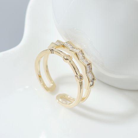 AAA Grade Zircon Ring mode double anneaux pour femmes NHPS222642's discount tags