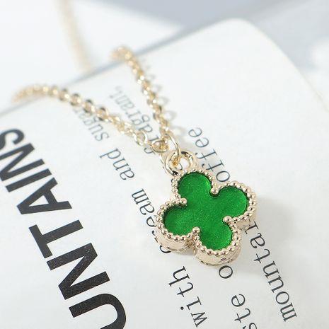 Collier Plaqué Or mode Lucky Clover collier vert femmes NHPS222643's discount tags