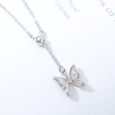 AAA Grade Zircon Necklace fashion Butterfly necklace wholesale NHPS222644's discount tags