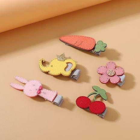 Set de pinzas para el cabello de flores de conejo simple pequeña corona dulce fresca conjunto de horquilla de elefante bebé NHPS222651's discount tags