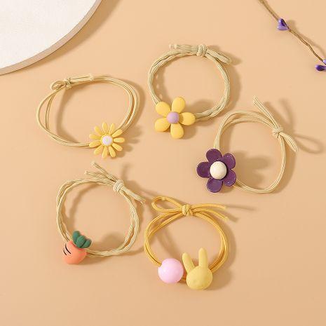 Gomas para el pelo de flores coreanas pequeña y fresca personalidad de moda simple conjunto de banda para el cabello NHPS222652's discount tags