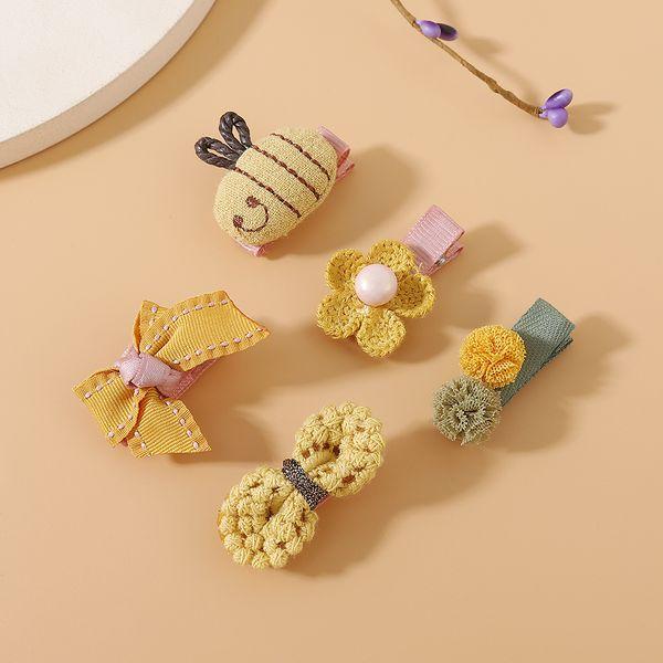 Korean hair clips set fashion animal pearl hair clip sweet cute hairpin set NHPS222655