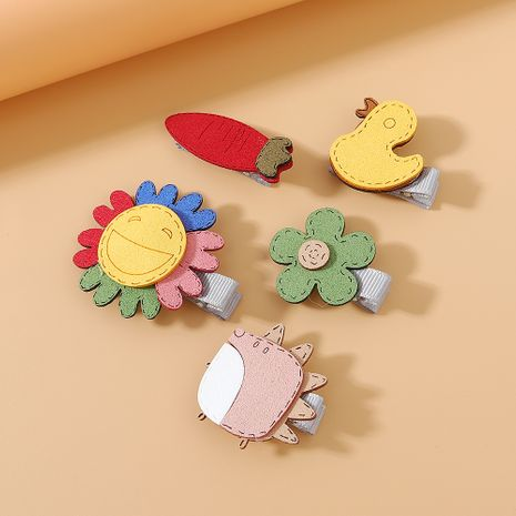 Korean hair clips set wholesale small fresh and simple wild sweet cute hairpin set NHPS222656's discount tags