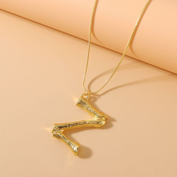 Korean letter necklace fashion wild retro retro  26 shaped classic alphabet necklace NHPS222662