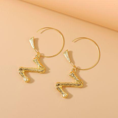 Korean earrings women  fashion simple small fresh 26 letter earrings NHPS222663's discount tags