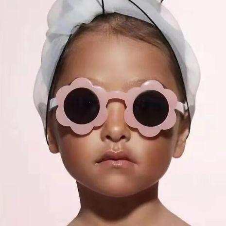 Flower children sunglasses  fashion cute  new sun flower bright transparent jelly color  glasses cute kids sunglasses wholesale NHKD222815's discount tags