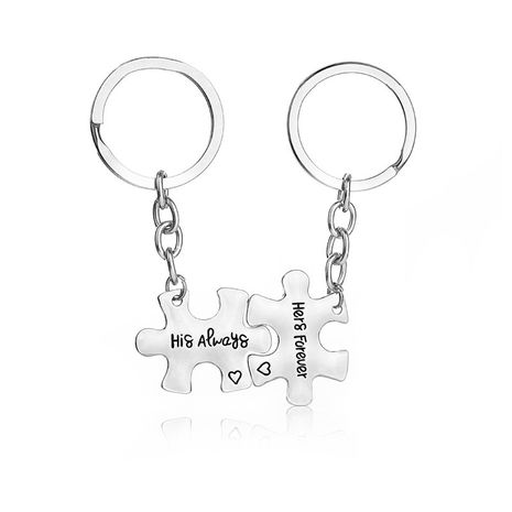 fashion simple new  letters His AfwAys and HersForever couple keychain nihaojewelry wholesale NHMO222848's discount tags