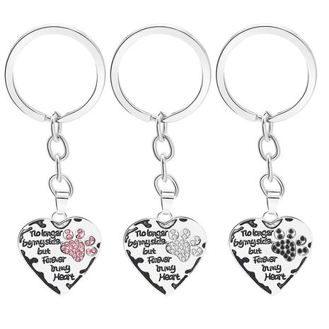 fashion  lettering No LongerByMySide loving dog paw key chain accessories nihaojewelry wholesale NHMO222852's discount tags