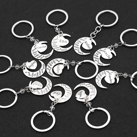 fashion simple Valentine's Day gift love moon I love you key chain nihaojewelry wholesale NHMO222853's discount tags
