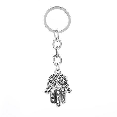 fashion new simple  Personality Retro Hollow Fatima Palm Personality Keychain Trendy Hundred Accessories NHMO222858's discount tags