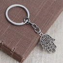 fashion new simple  Personality Retro Hollow Fatima Palm Personality Keychain Trendy Hundred Accessories NHMO222858