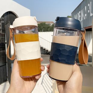 Fashion  Shake Cup Anti-scalding Insulation Handle Plastic Cup  Simple  Water Cup nihaojewelry wholesale NHtn222898's discount tags