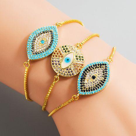mode nouveau bracelet accrocheur en laiton micro-set couleur bracelet en zircon nihaojewelry gros NHLN222929's discount tags