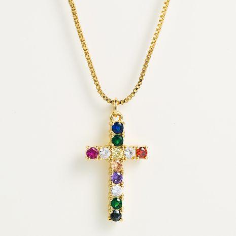 nouveau pendentif de mode en laiton micro-set couleur zircon collier nihaojewelry gros NHLN222931's discount tags