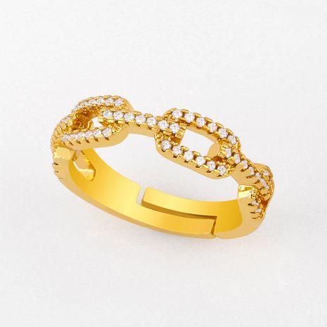 mode nouvelle personnalité simple diamant ouvert anneau de cuivre nihaojewelry gros NHAS222709's discount tags