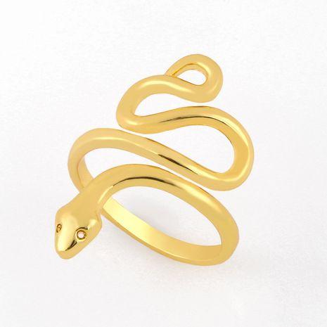 Mode nouveau simple anneau de serpent en cuivre vente chaude personnalité créatrice anneau de serpent exagéré nihaojewelry en gros NHAS222710's discount tags