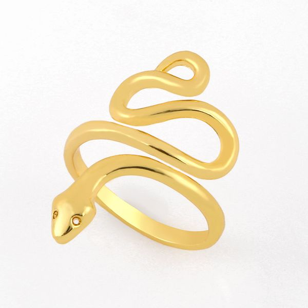 fashion new simple copper snake ring hot selling  creative personality exaggerated snake  ring  nihaojewelry wholesale NHAS222710
