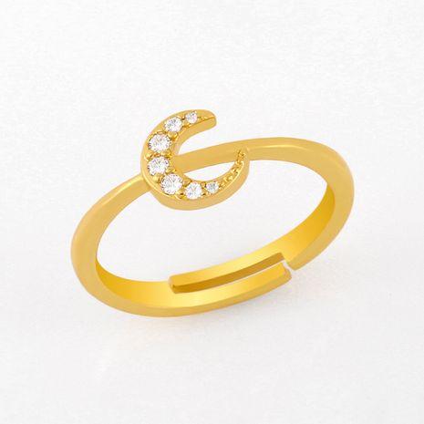 mode nouveau simple micro-ensemble zircon anneau simple diamant cuivre anneau nihaojewelry gros NHAS222712's discount tags