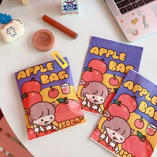 Japanese cute girl biscuit snack packaging paper bag self-adhesive candy sub-bag birthday gift bag NHZE222724's discount tags