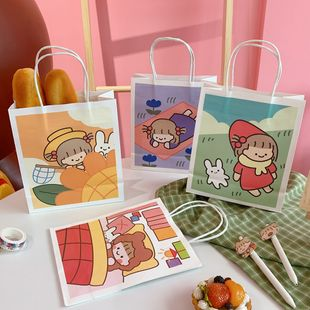 fashion Korean new  cute girl portable shopping gift bag mini birthday gift paper packaging bag nihaojewelry wholesale NHZE222730's discount tags